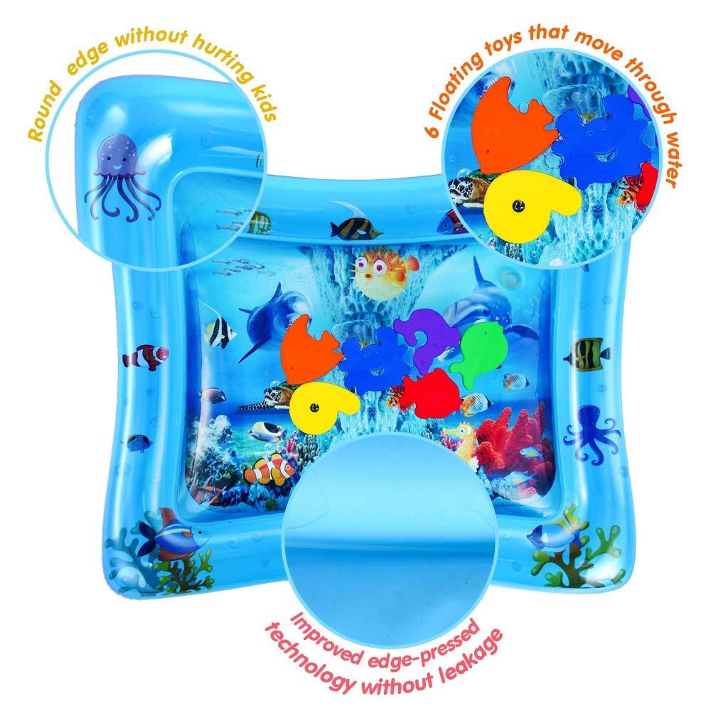Tempo di Divertimento Perfetto Centro attivit/à per Bambini VATOS Tappetino Gonfiabile per Bambini Stuoie da Gioco Premium per Bambini Giocattoli Sensoriali