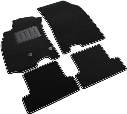 | Accesorios Coche Alfombrilla Suelo + Limpiador de Plasticos Regalo Alfombrillas de Goma Compatible con Renault Megane III 2008-2016