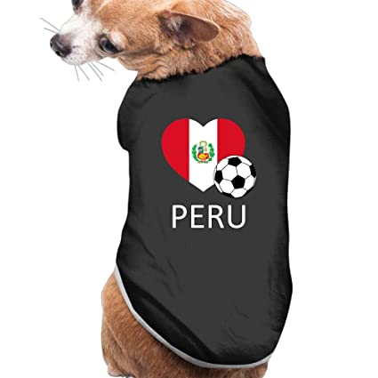 CMEY Dog Clothes Love Peru Soccer Dog Shirts Pet Vest