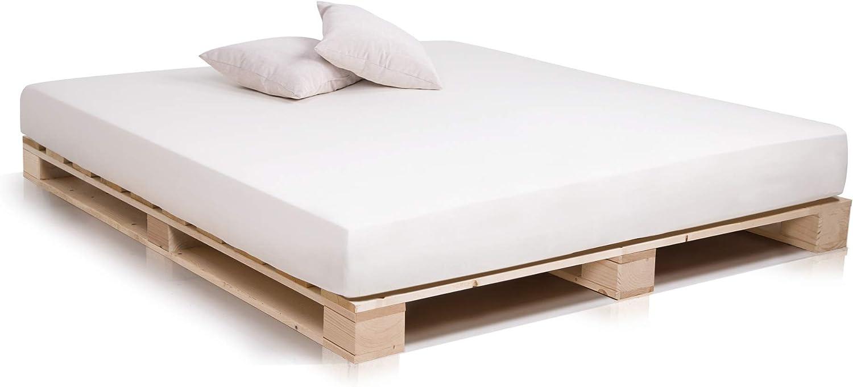 Palettenm/öbel Made in Germany PALETTI Palettenbett Massivholzbett Holzbett Bett aus Paletten mit 11 Leisten