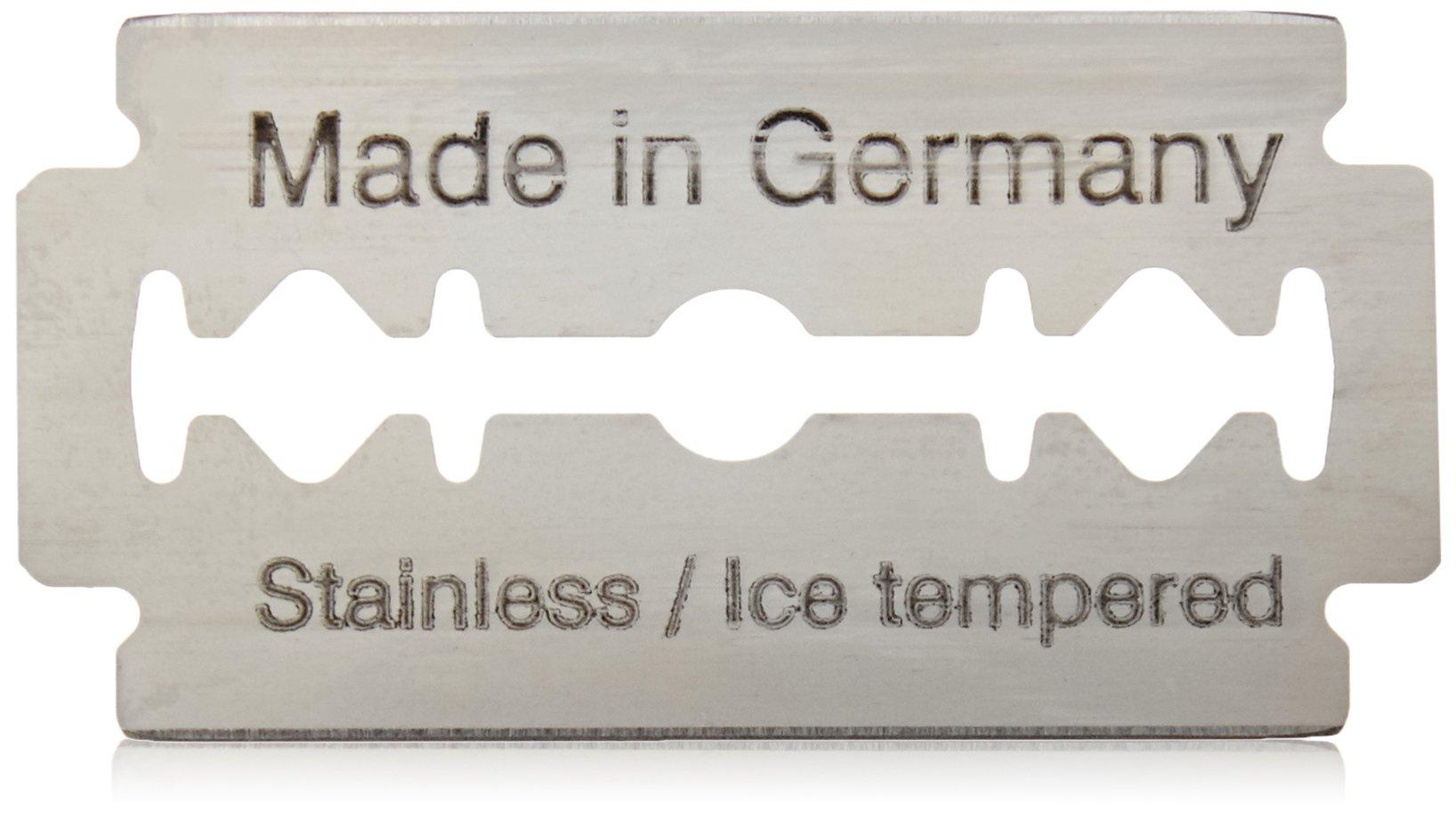 Van Der Hagen Stainless Steel Double Edge Razor Blades 10 Blades