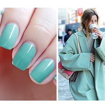 Amazon.com : Mint gel nail polish, Beau Gel 15ml Professsional UV ...