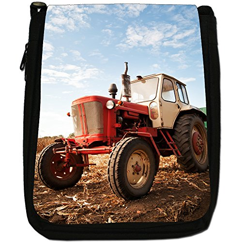 A Medium Shoulder Field Canvas In Vehicle Tractor Bag Black Farm Size Old 7qwfxS1g