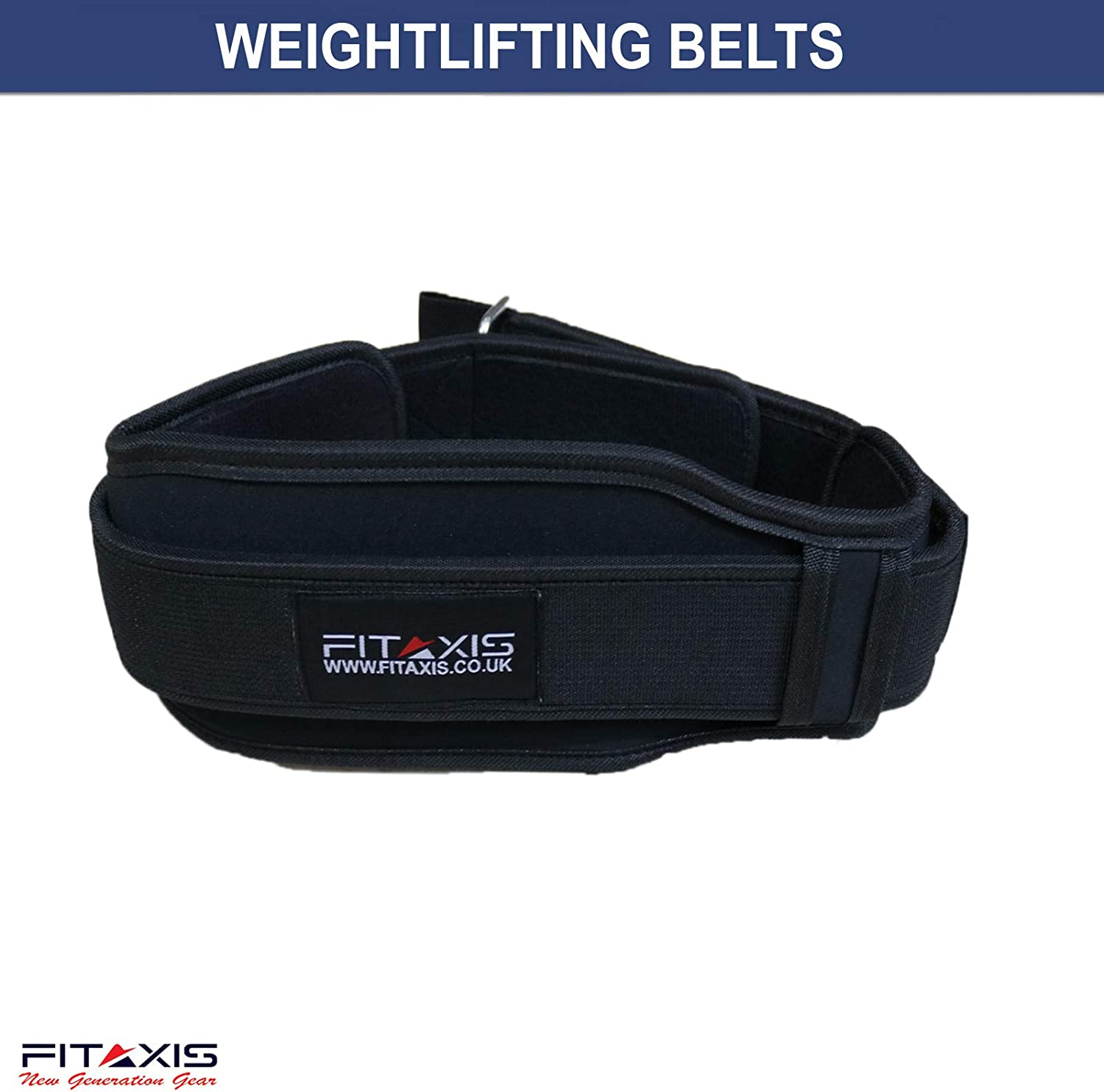 FITAXIS Weight Lifting Belt Double Padded 5 inch Back Support for Gym Fitness Training Neoprene Back /& Core Support