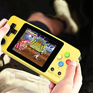 Basde LDK Game Handheld Gaming Console, Retro Portable Gaming System  Handheld Game Console Kids Adults Screen by 2 6 Thumbs Mini Palm Nostalgia