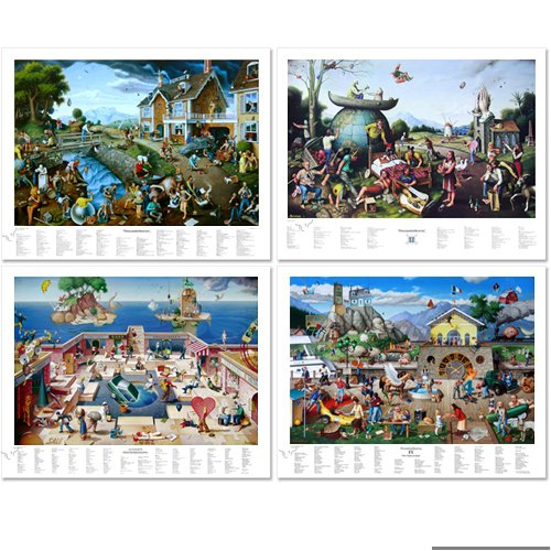 Complete Autographed Proverbidioms Series, Set of 4 Posters by T. E. Breitenbach ()