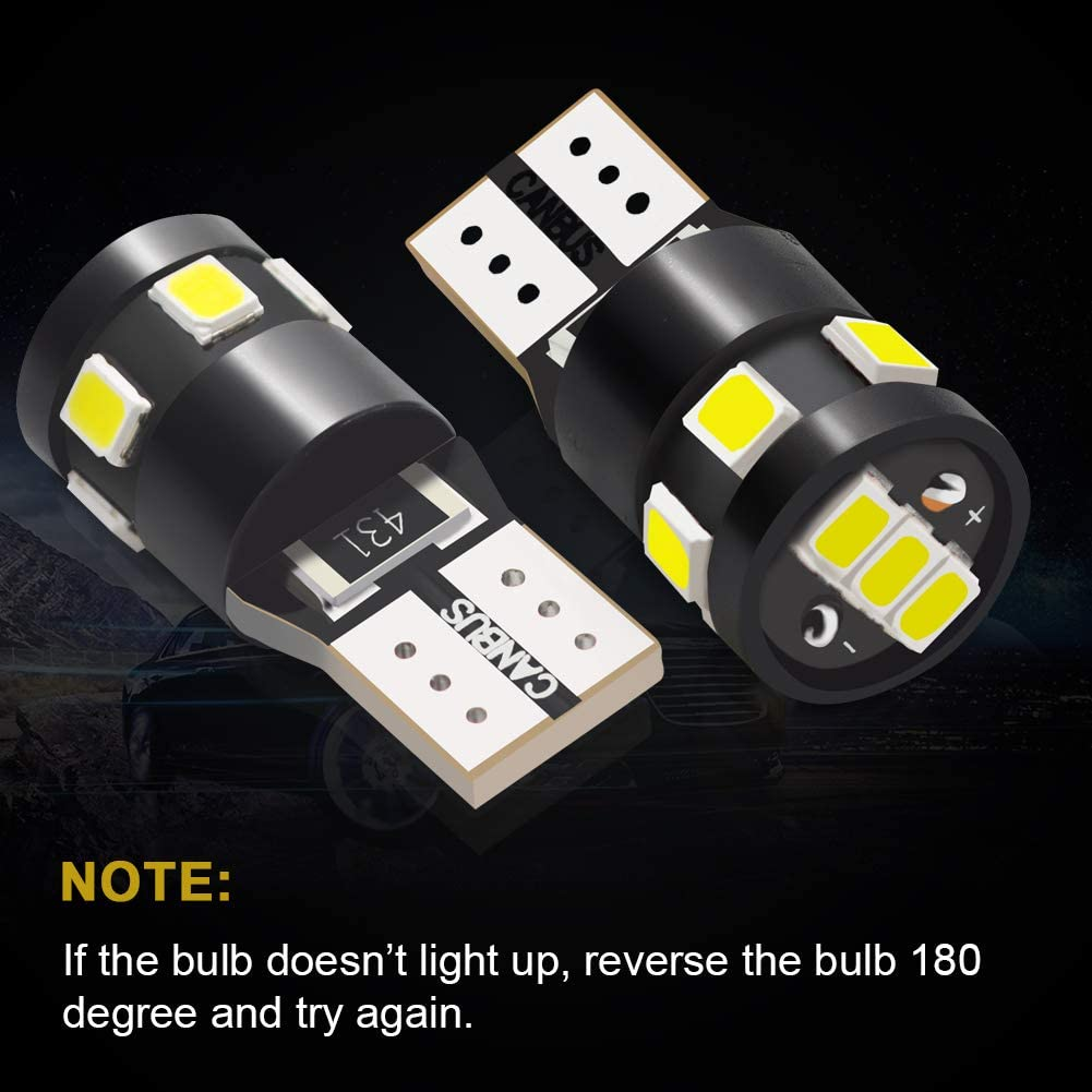 Number Plate Boot Bulbs DC 12V pack of 10 Interior Light JoaSinc T10 LED Bulb W5W 501 194 168 LED Bulbs Blue 6-SMD 5630 For Car Sidelights Dashboard