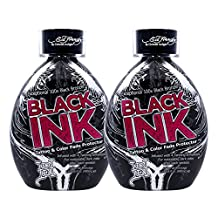 2 Ed Hardy Black Ink Bronzer Tattoo Fade Protector Indoor Tanning Bed Lotion by Ed Hardy