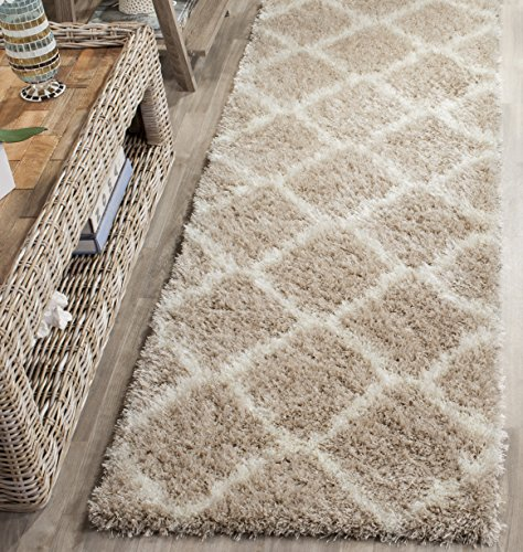 (Safavieh Montreal Shag Collection SGM866C Beige and Ivory Area Rug (2'3