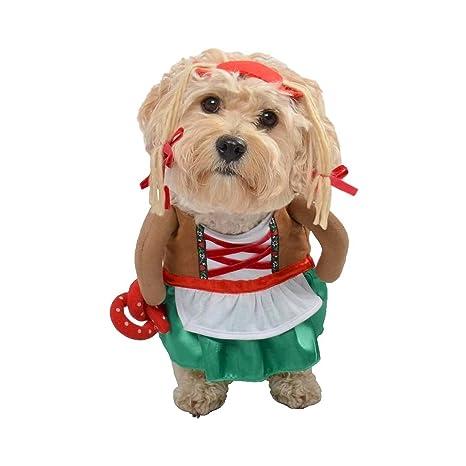 af16ecede Amazon.com   Dog Pet Costume -- German Girl Beermaid Oktoberfest Pretzel  (XL)   Pet Supplies