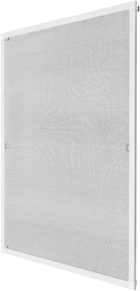 TecTake MOSQUITERA PARA VENTANA PROTECCIÓN CONTRA INSECTOS - disponible en diferentes colores y varias tamaños - (80x100cm   blanco   no. 401204)