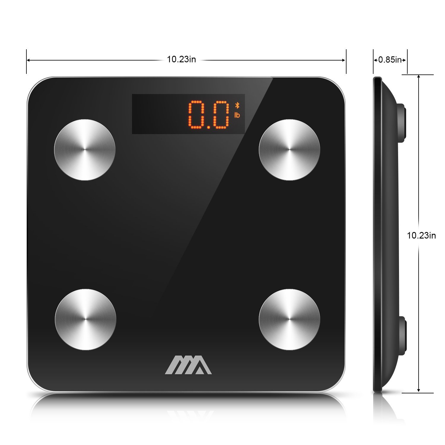 Adoric Bluetooth Body Fat Scale Smart Digital Scale with APP for Android  and IOS, Tempered Glass