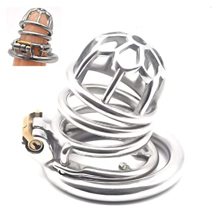 Jaula castidad acero inoxidable/Jaula pene/Cinturón castidad 3D ...