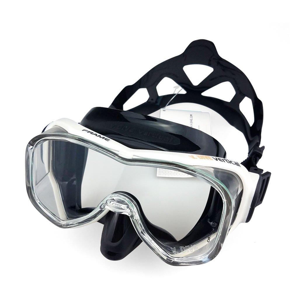 スイムグラス - プロのダイビングメンズ女性のマスクゴーグルフルドライシリコンシュノーケルチューブセット B07FLSP1MC C  C