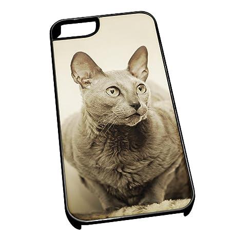 Negro para iPhone 5/5S 0122 Mau egipcio animales gato