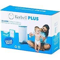 Korbell Plus 26L, biodegradowalny jednorazowy wkład do pojemnika na śmieci, 3 sztuki