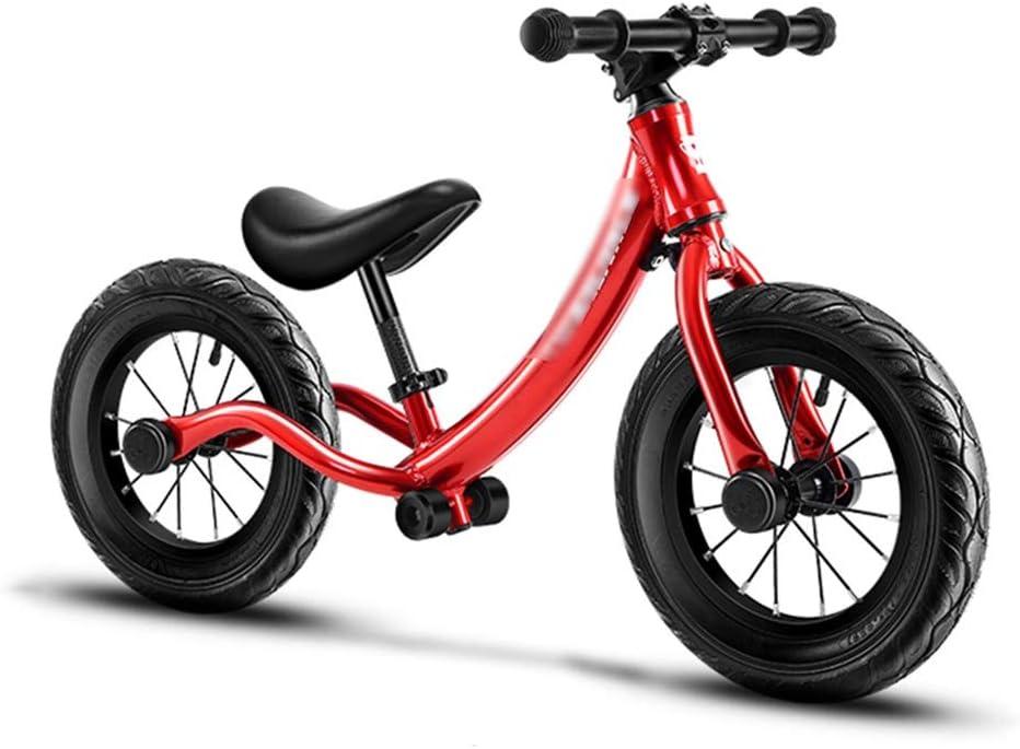 Bicicletas sin pedales Bullet Bikes Balance Bike Sport Balance Bike Ultraligero Aleación De Aluminio No Pedal Bicycle (Color : Red, Size : 91 * 52cm)