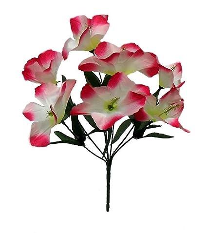 Amazoncom 5 Hibiscus Fuchsia Cream Silk Wedding Flowers Bridal