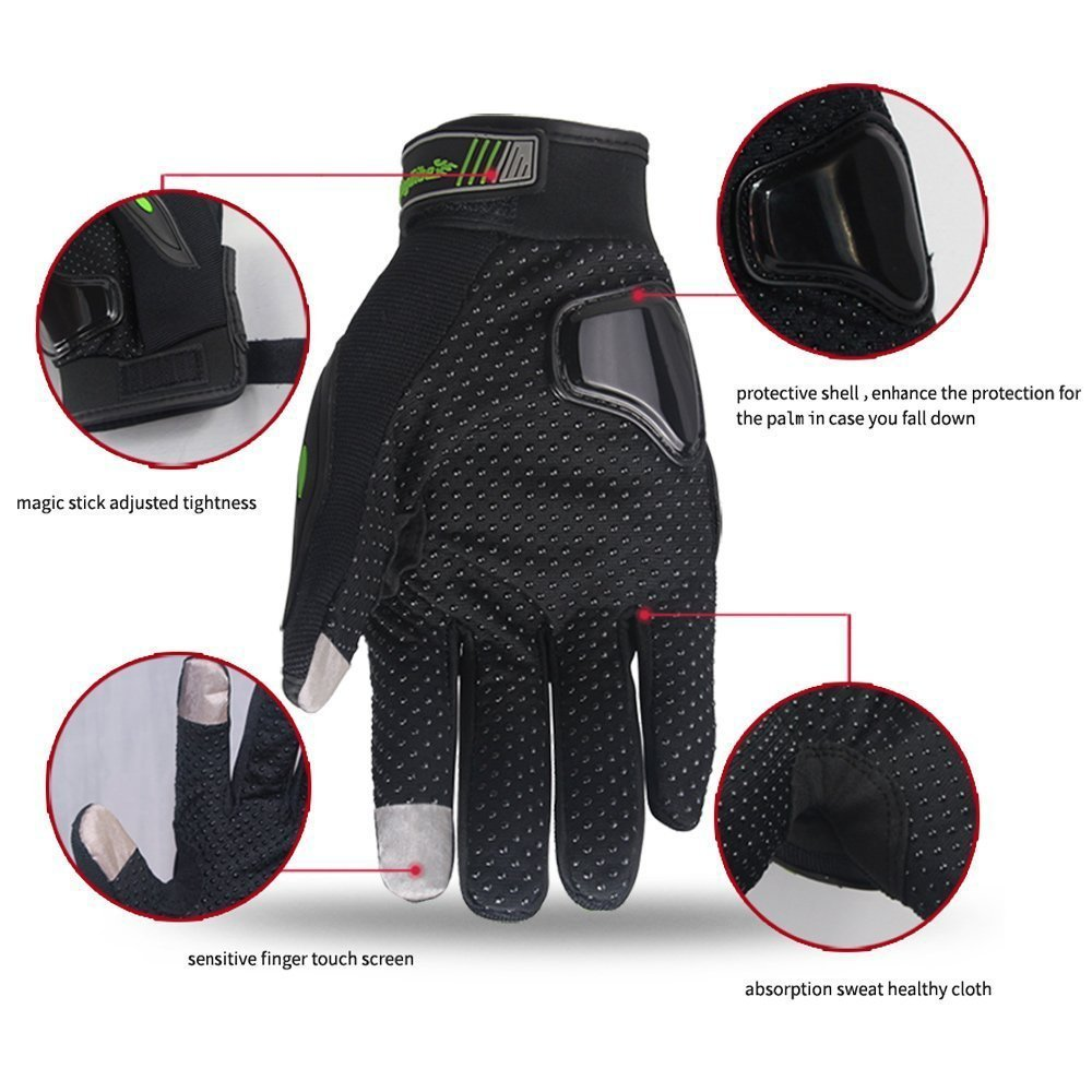 Sourcingbay Bicycling Gloves Sport Touchscreen Gloves Outdoor Full Finger Bike Gloves Warm Enough Great Protection Motorcycle Riding Gloves for Men and Women 3 Sizes