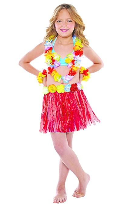 5-7 anni - Accessorio per Costume Costume - Travestimento - Carnevale -  Halloween - Teatro - Gonna Hawaiana - Fiori - Multicolore - Bambina  Amazon. it  ... 86c9bc2bcf3