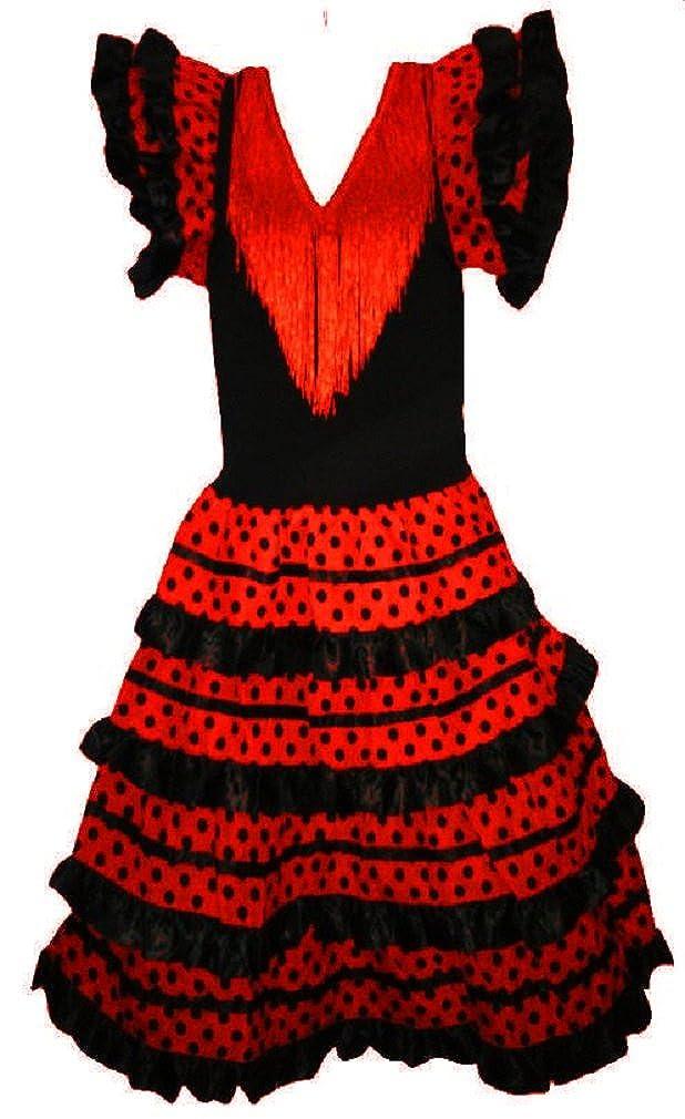 Vestido de flamenco, sevillanas, para niña