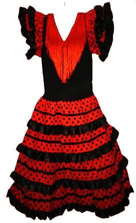 Vestido de flamenco, sevillanas, para niña: Amazon.es: Ropa y ...