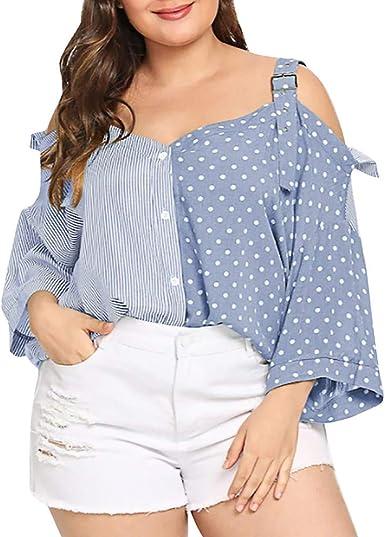 Blusas para Mujer Jorich Blusa Abierta Mujer Hombro Frios ...