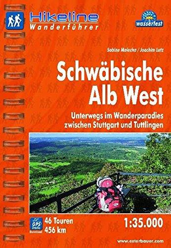 Hikeline Wanderführer Schwäbische Alb West 1 : 35 000, wasserfest und reißfest, GPS zum Download