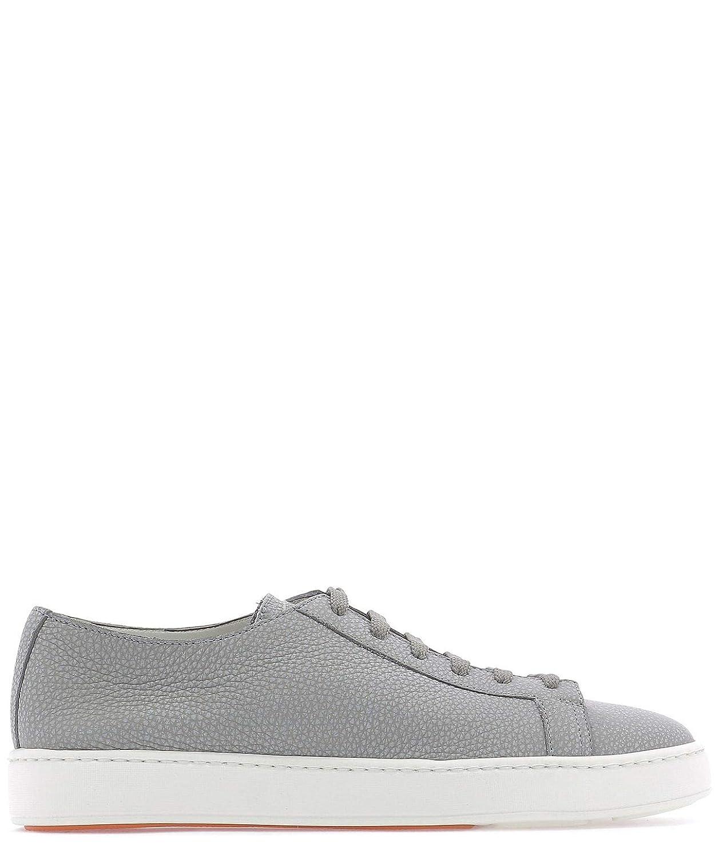 - Santoni Men's MBCN14387BARCMNUG52 Grey Leather Sneakers