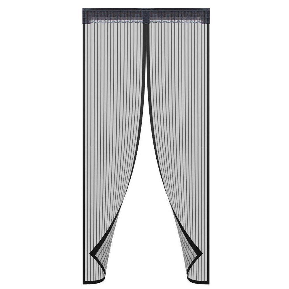 90X210cm Porte-moustiquaire pleine grandeur Velcro Premium Mesh Rideau avec treillis r/ésistant Mesh Ultra-Tranquille convient aux animaux de compagnie Convient /à la taille de la porte jusqu/à 34 x82 Max Noir