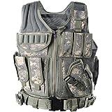 YAKEDA Tactical Vest Outdoor Ultra-Light Breathable Combat Training Vest Adjustable for Adults 600D Encryption Polyester-VT-1