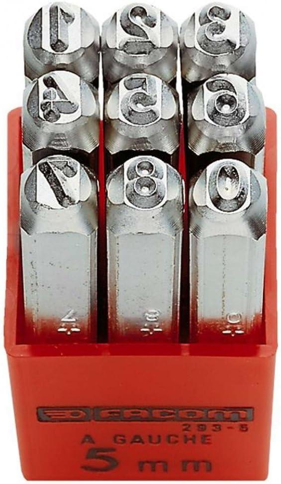 293A.6 FACOM Saetze mit 9 Schlagziffern im Kunststoffkastenzeichenh/öhe 6 mm 1 St/ück