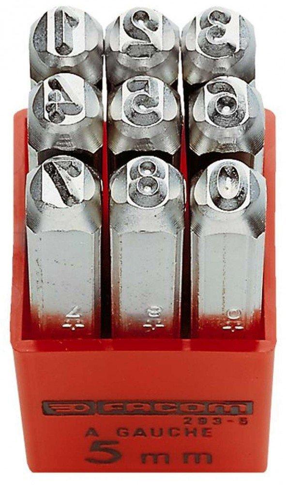 1 St/ück 293A.4 FACOM Saetze mit9 Schlagziffern im Kunststoffkastenzeichenh/öhe 4 mm