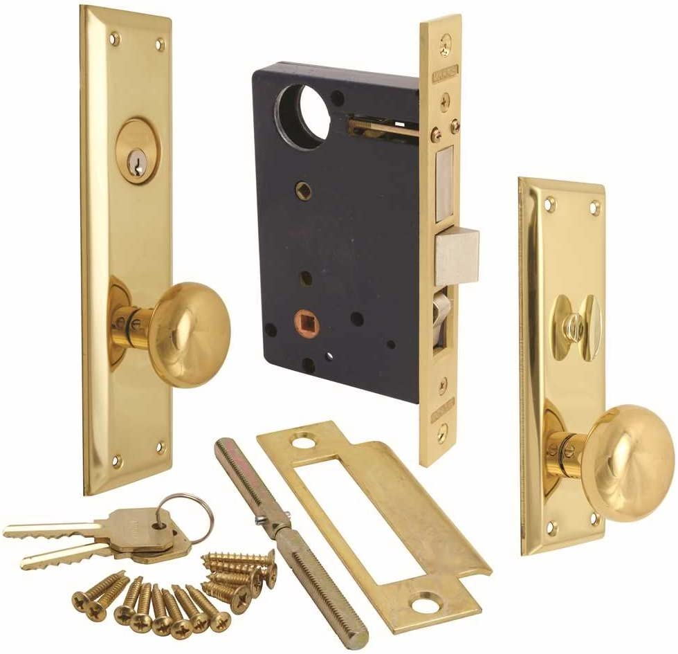 """Marks Hardware 91A-LH Marks Mortise Lock, Left Hand, 4.2"""" x 10.9"""" x 4.5"""""""
