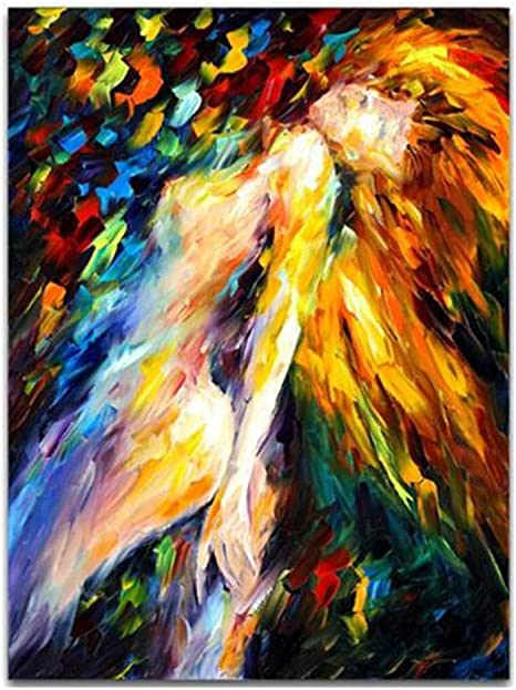 Xiaoxinyuan 100 Handpainted Abstract Body Art Oil Painting Nude Women Art Picture For Living Room Home Decor 50 100cm Amazon Co Uk Kitchen Home