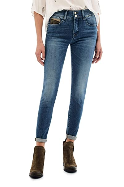 new design wholesale price latest Salsa Secret Skinny Jeans with Suede Detail: Amazon.co.uk ...