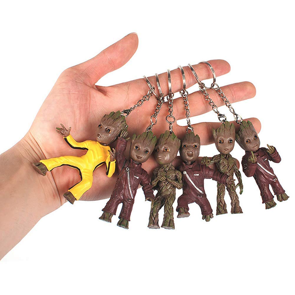 Mini Groot Figures Movie Guardians of The Galaxy Keychain Pendant Model Toy Best Gifts
