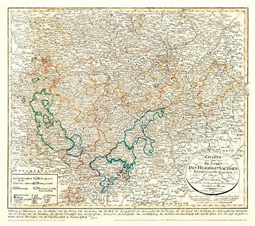 Historische Karte: Charte über die Länder des Herzoglich Sachsen-Ernestinischen Hauses, 1815 (Plano)