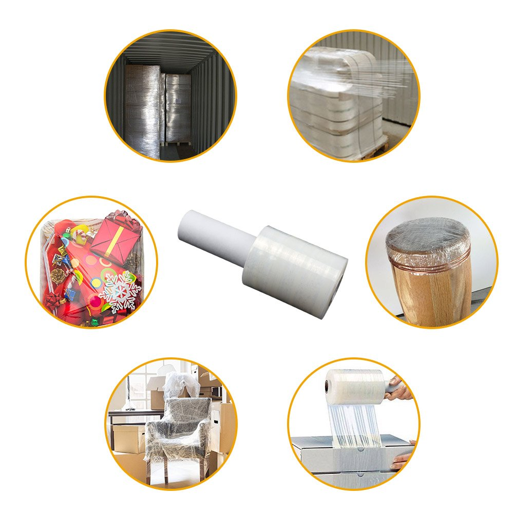 LIVEHITOP Plastic Wrap with Handle Stretch Wrap with Handle Shrink Wrap Roll for Furniture, Boxes(4'' x 750 ft x 2 Pack,4'' x 625 ft x 1 Pack) by LIVEHITOP (Image #7)