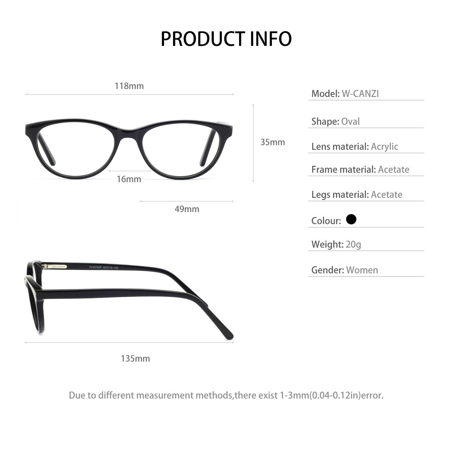 Amazon.com: OCCI CHIARI Eyeglasses with Clear Lenses Fashion ACCETTI ...
