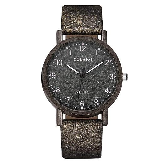 OKEYsoe - Reloj de pulsera para mujer, de cuarzo, correa de piel ...