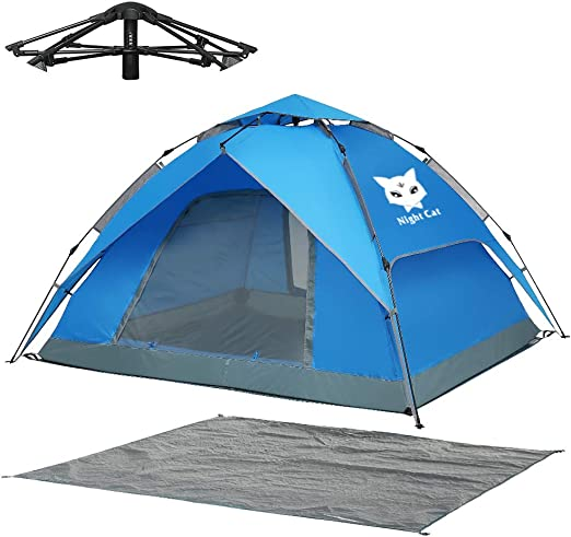 Night Cat 1 to 4 Person Waterproof Camping Tent