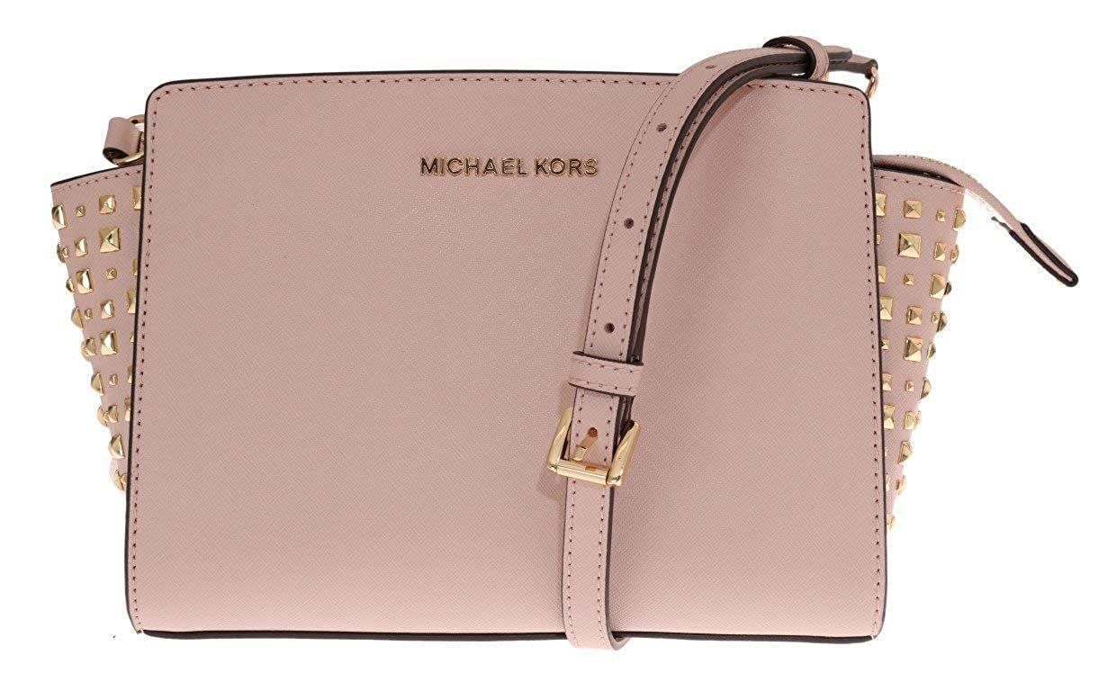 4c3e05f314ee Amazon.com: Michael Kors Women's Selma Stud Medium Leather Messenger Bag  Cross Body - Ash Grey: Michael Kors: Everything Else