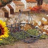 Antique-Style Wire Garden Basket Home Decor