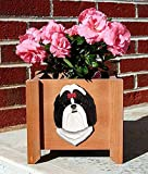 Shih Tzu Planter Flower Pot Black White Review