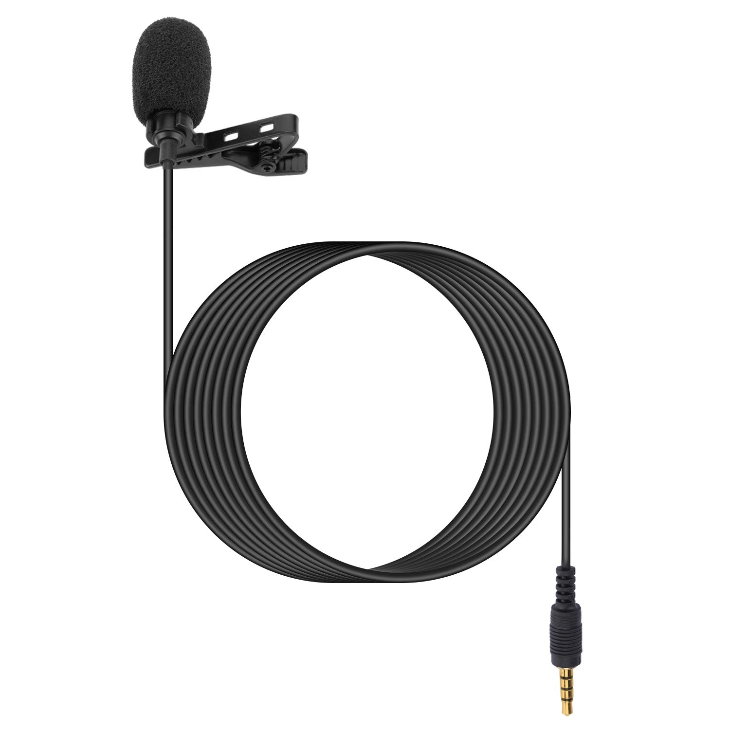Lavalier Microphone - Portable Mobile Clip Lapel 3.5mm Mini Mic, Used for For Android phones,recording, video call(Not for iPhone)