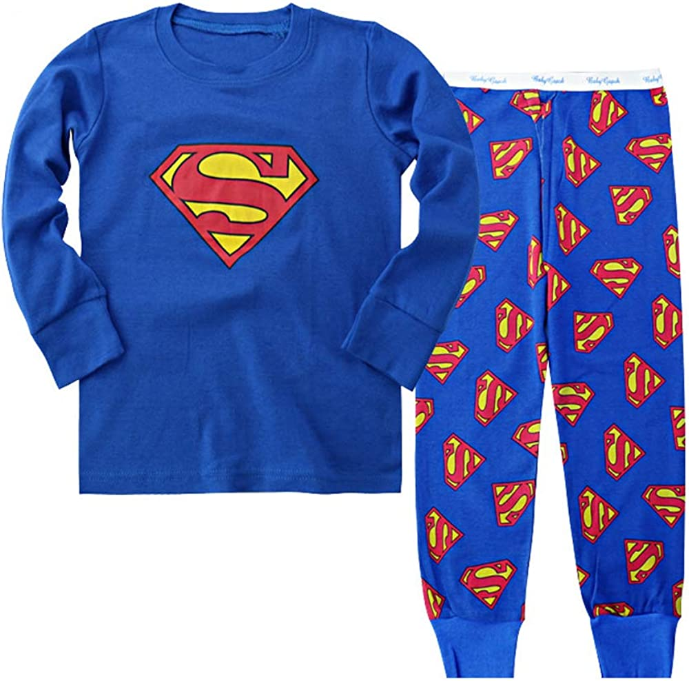 Spider-Man Super Hero Boys Pajama Long Sleeve Clothes Set Cotton 2-7T 2 PCS