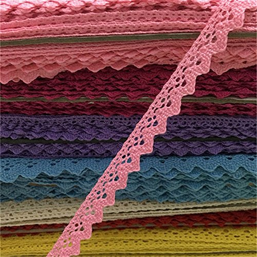 OZXCHIXU(TM) 2 meters Sewing Lace Ribbon Trim Guipure 18mm width for Scrapbooking Gift Packing (pink)
