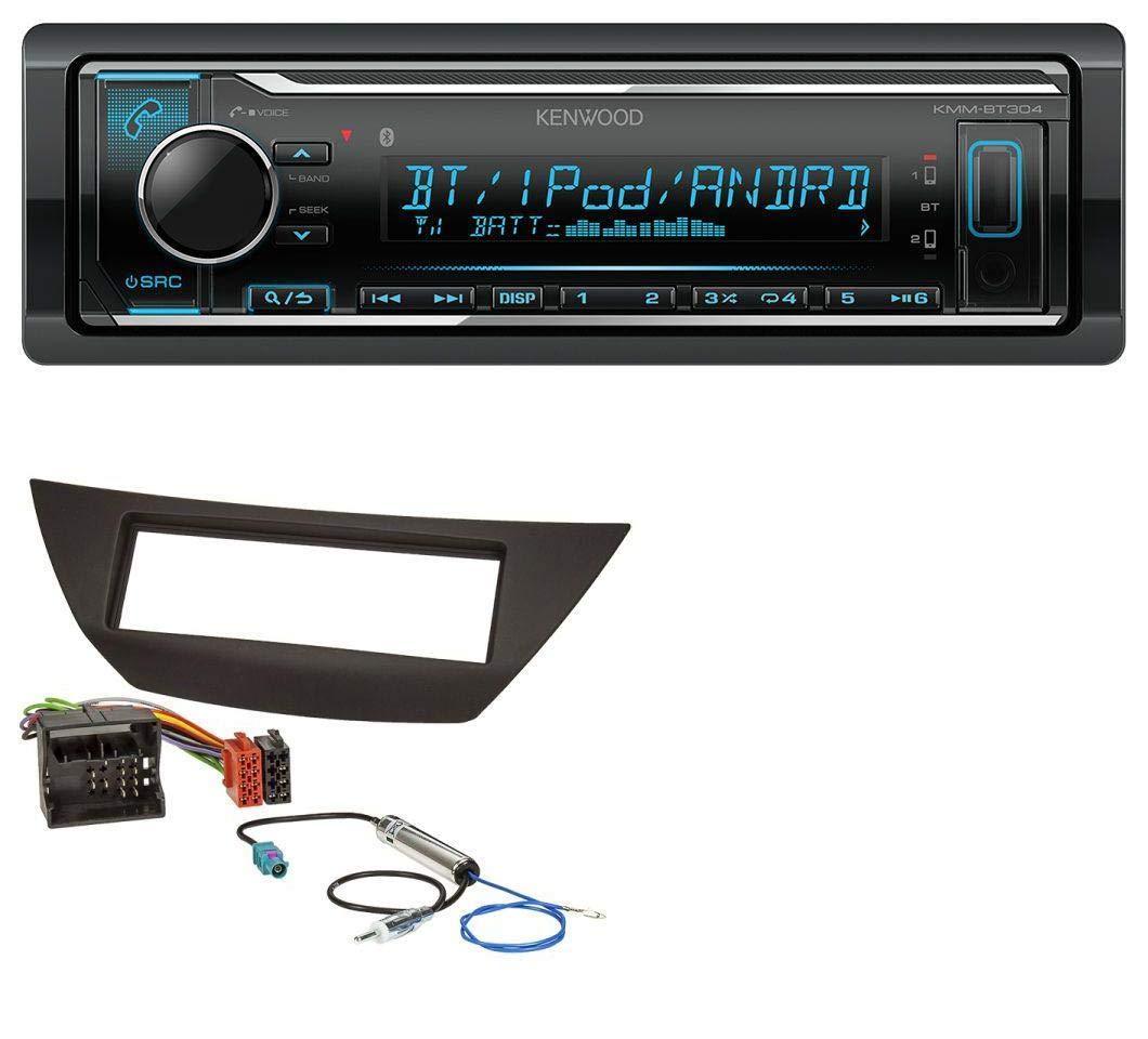 caraudio24 Kenwood KMM-BT304 AUX USB Bluetooth MP3 Autoradio f/ür Renault Laguna 3 ab 2008