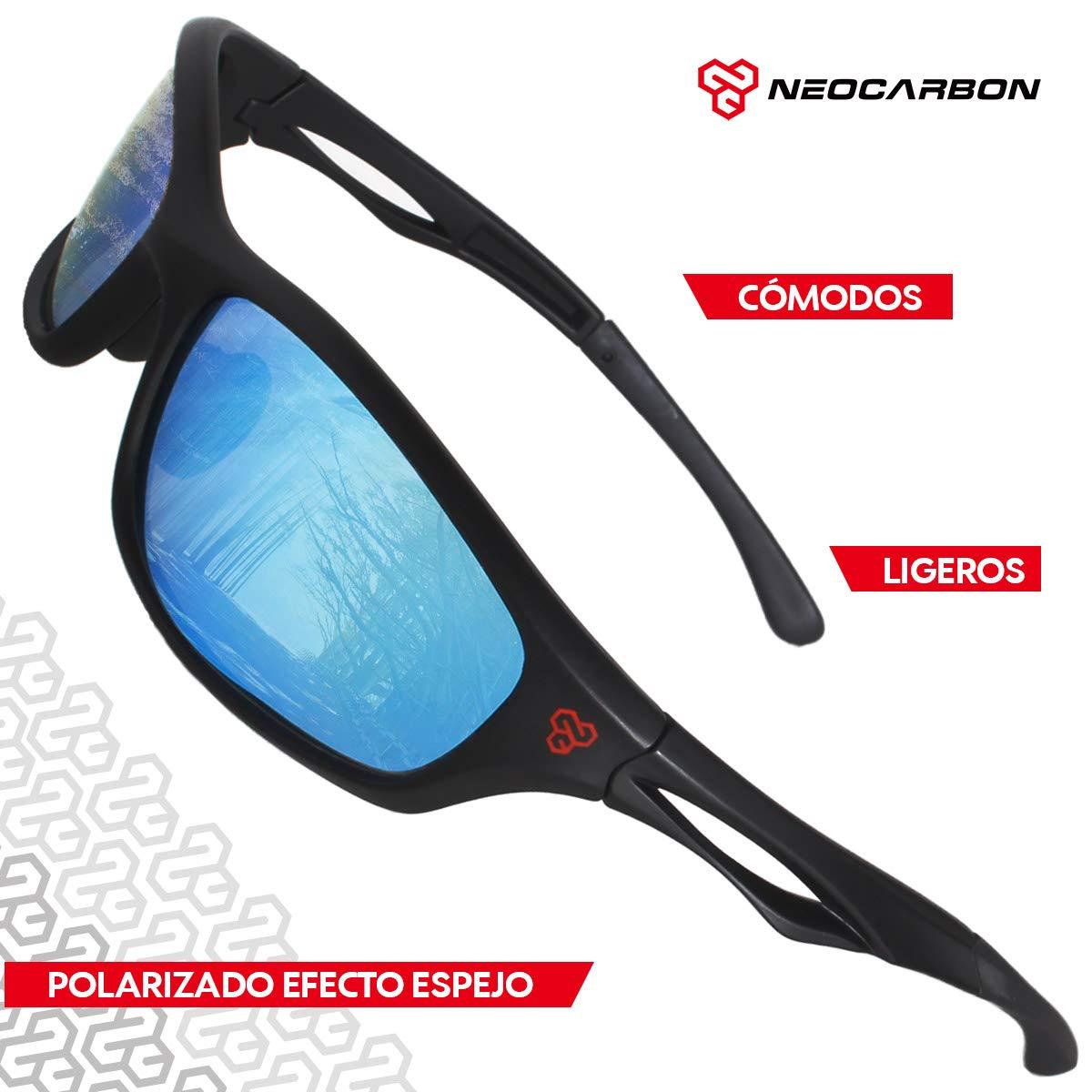 4ed6522d80 NeoCarbon Lentes de Sol Deportivos Polarizados con Protección UV para  Hombre y Mujer. Incluye Estuche y Kit de Accesorios, Azul: Amazon.com.mx:  Deportes y ...